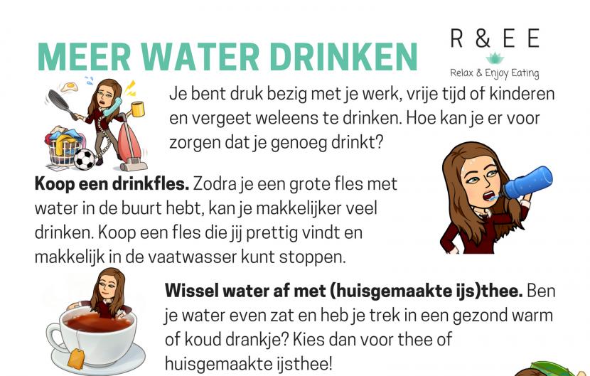 Afbeelding meer water drinken