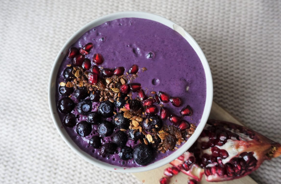 Blueberry cheesecake smoothiebowl